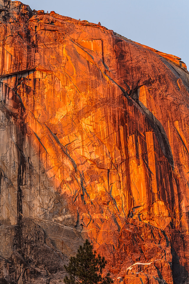 El Capitan glows at sunset