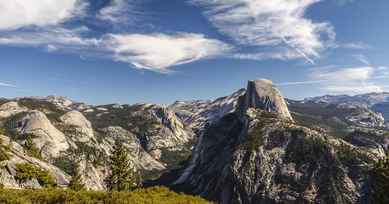 Eastern Sierras and Half Dome