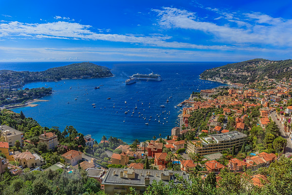 The Bay of Villefranche sur Mer
