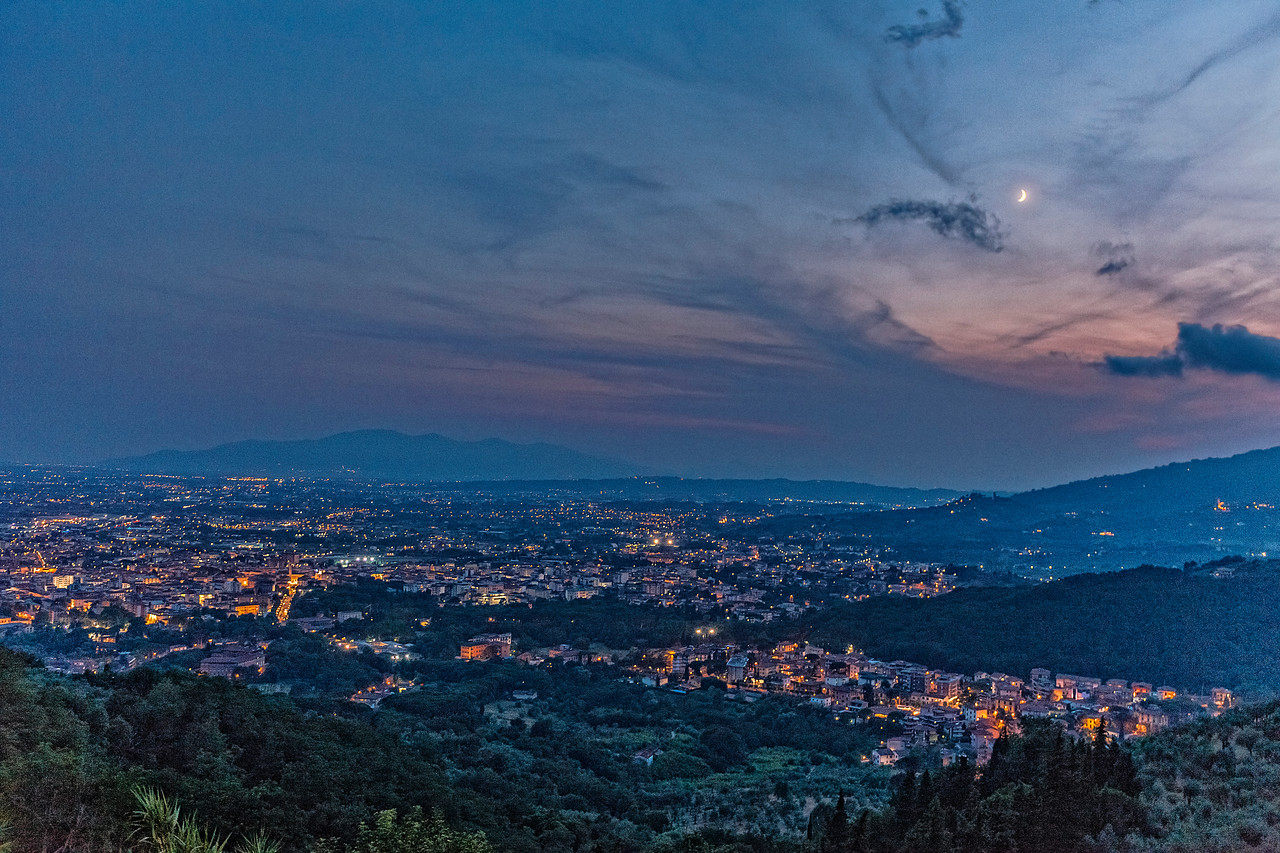Moon over Montecatini