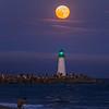 Super Moon over Walton Lighthouse