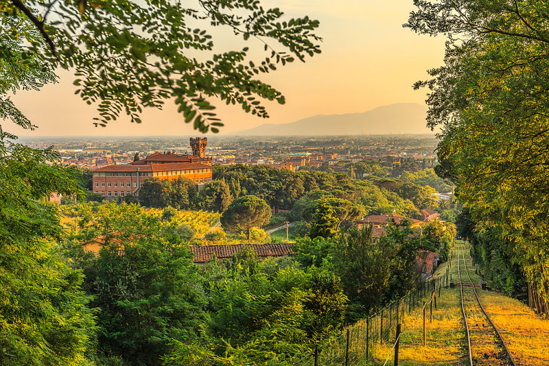 Montecatini Terme and Funicular rail tracks
